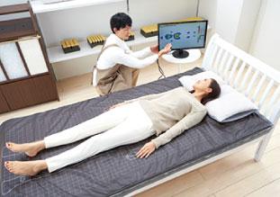 睡眠姿勢や歩行姿勢を整えるイメージ